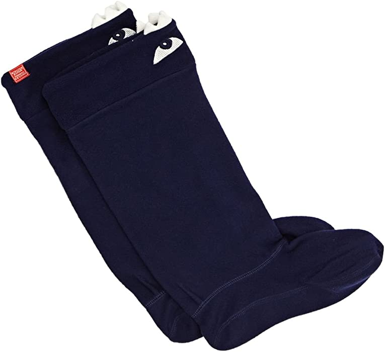 Navy Eyes Joules Character Welly Socks