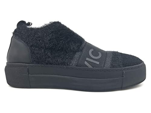 Vic Matie  6702 Nero Sneaker Donna in Tessuto E Pelle Nera  MainApps   Amazon.it  Scarpe e borse cc4d1dc152e