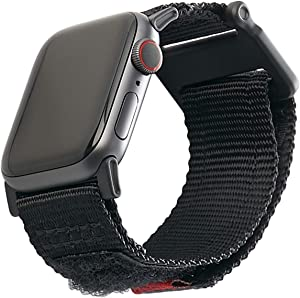 URBAN ARMOR GEAR UAG Compatible Apple Watch Band 44mm 42mm, iWatch Series 6/5/4/3/2/1 & Watch SE, High Strength Nylon Weave Replacement Strap, Active Black