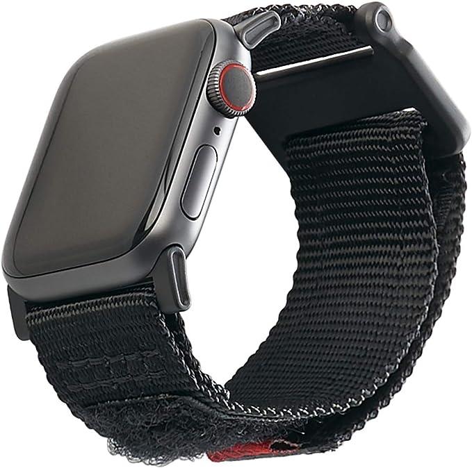 Urban Armor Gear Active Armband Für Apple Watch 42mm 44mm Watch Se Series 6 Series 5 Series 4 Series 3 Series 2 Series 1 Stabiles Ersatzarmband Aus Nylon Schwarz Elektronik