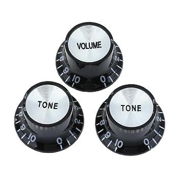 domybest 4 piezas transparente acrílico Rotary Perilla de volumen para guitarra eléctrica Bass potenciómetro ajustable Interruptor Cap Accesorios para ...