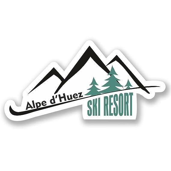 2 x Alpe d/'Huez Ski Snowboard Vinyl Sticker Laptop Travel Luggage Car #5333