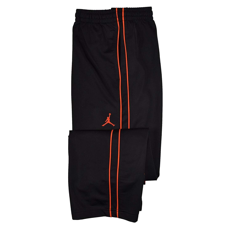 Nike Jordan Boys' (8-20) Jumpman Basketball Pants-Black/Lt Crimson-Medium