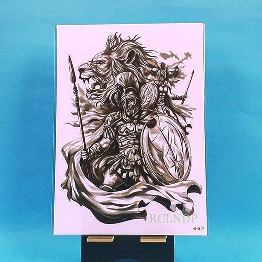 5pcs Impermeable engomada del Tatuaje del león de la Corona del ...