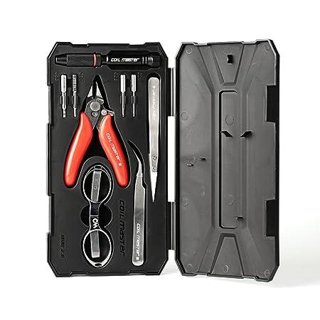 Caja de herramientas básica COIL MASTER Mini Kit V2 para cigarrillos electrónicos - Pinzas cerámica, tijeras, alicates, destornillador para hacer ...