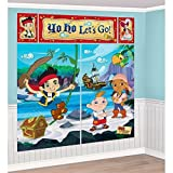 Disney Junior Jake and the Neverland Pirates Scene Setter Wall Decorations Kit - Kids Birthday and Party Supplies Decoration by Disney