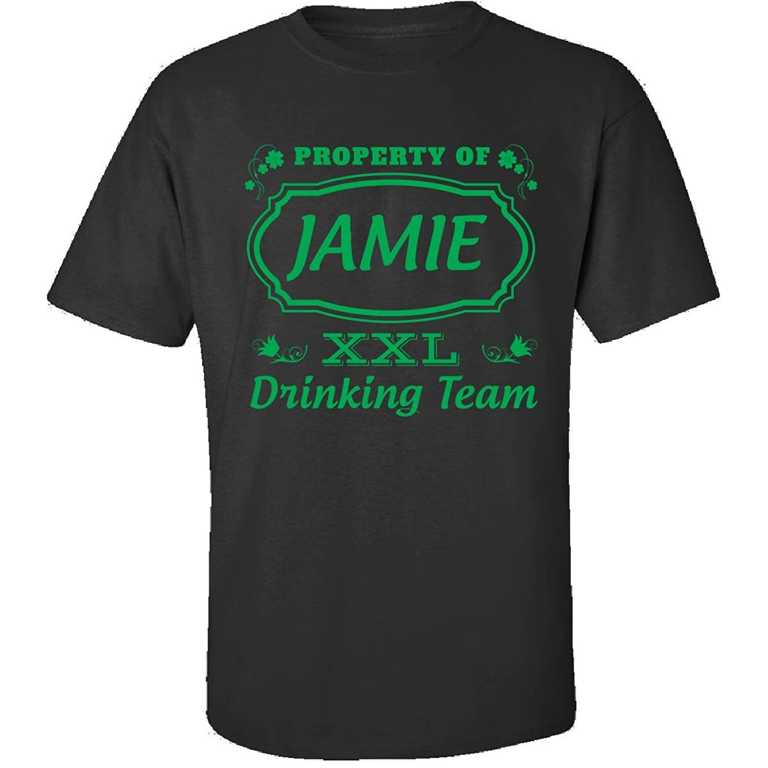 Property Of Jamie St Patrick Day Beer Drinking Team - Adult Shirt