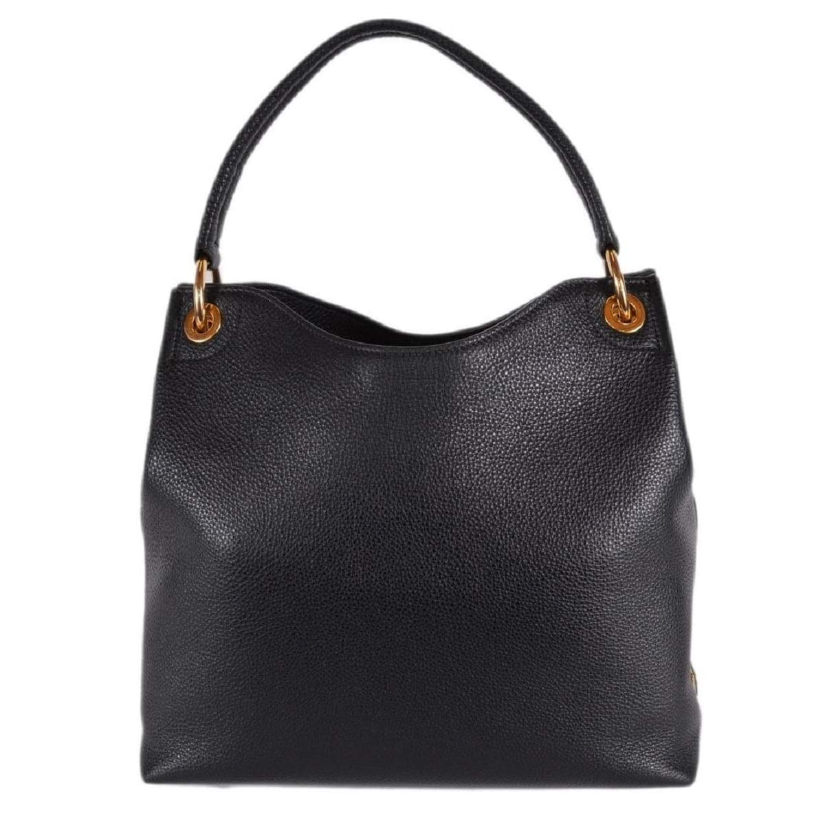 9e3b55a4fd6f Prada Women's Vitello Daino Black Leather Satchel Bag Handbag 1BC051:  Handbags: Amazon.com