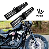 CNC 39mm Fork Shrouds Boots Covers Narrow Glide for Harley Sportster XL 1200 883 Dyna