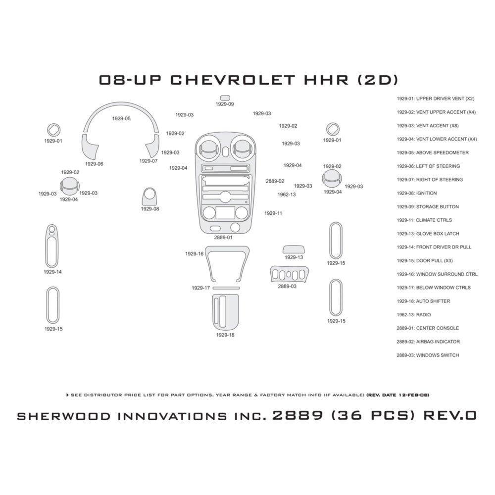 Sherwood Dash Chevy Hhr Kit 2889 Bi Automotive Diagram