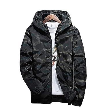Piiuiy Yuik Men Jacket Fashion 2018 Men Camouflage Jackets Casual Moleton Plus Size 4XL,Black