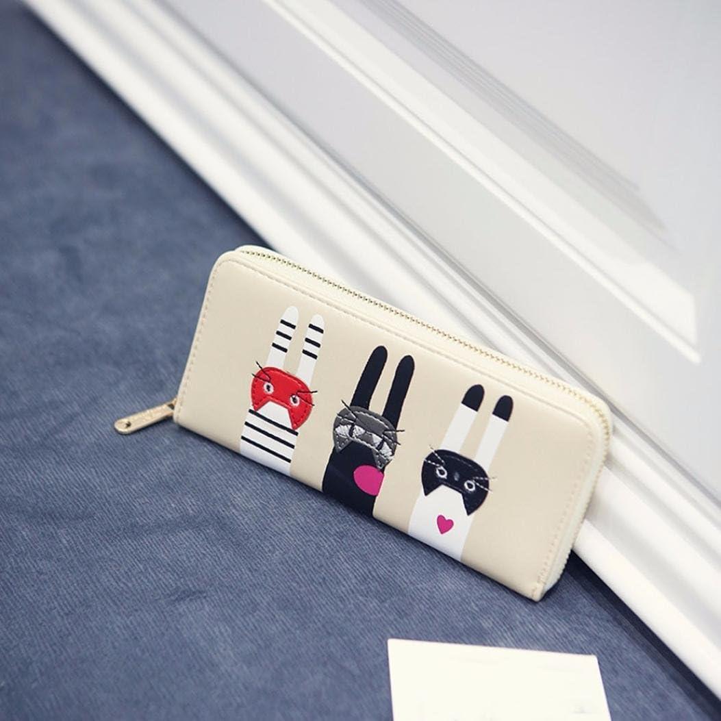 Yellow Womail Women Cute Fashion Long Zipper Wallet Card Coin Change Holder Handbags