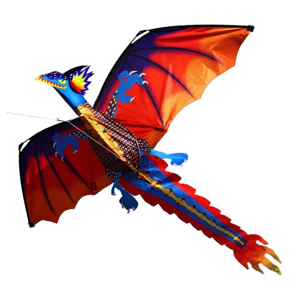 3D-Drachen In Dinosaurierform Mit 100-Meter-Platine Und Rotierendem Schwanz F/ür Strand Und Outdoor-Sportanz/üge F/ür Kinder Und Erwachsene