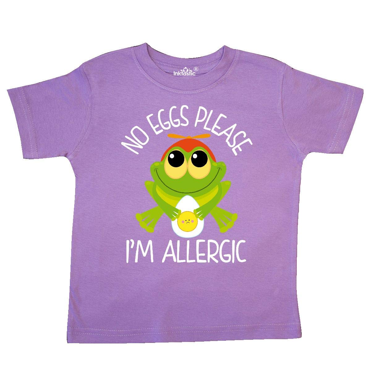 inktastic Allergic to Eggs Toddler T-Shirt