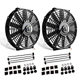 Universal Slim Fan Push Pull Electric Radiator Cooling Mounting Kit 12V