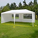 BenefitUSA Outdoor Wedding Party Tent 10'X20' Camping Set Gazebo BBQ Pavilion Canopy