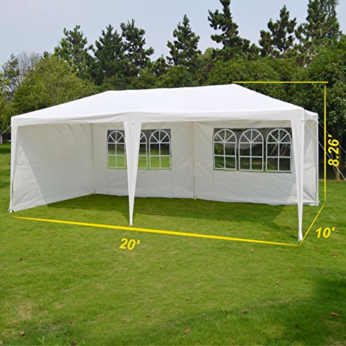 BenefitUSA Outdoor Wedding Party Tent 10'X20' Camping Set Gazebo BBQ Pavilion Canopy by BenefitUSA