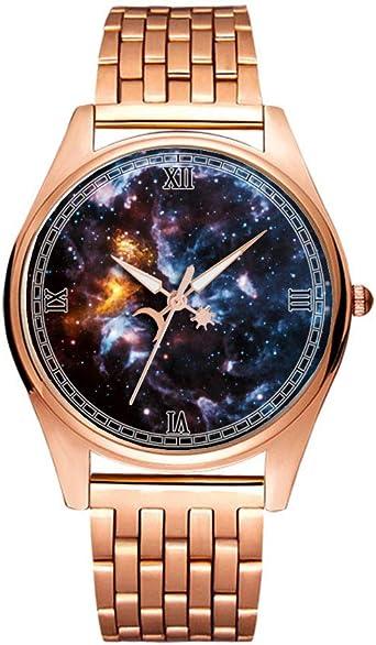 Reloj de Pulsera Minimalista de Cuarzo Dorado con diseño artístico ...