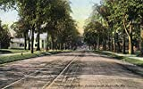 Waterville, Maine - Southern View of College Avenue (12x18 Art Print, Wall Decor Travel Poster)