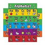 Póster de alfabeto ABC laminado de doble cara (18 x 24)