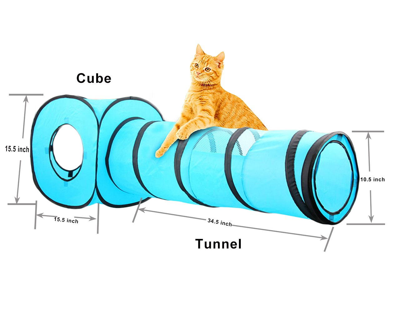 Amazon.com: PAWISE Cat Toys Cat Tunnel and Cat Cube Pop Up ...