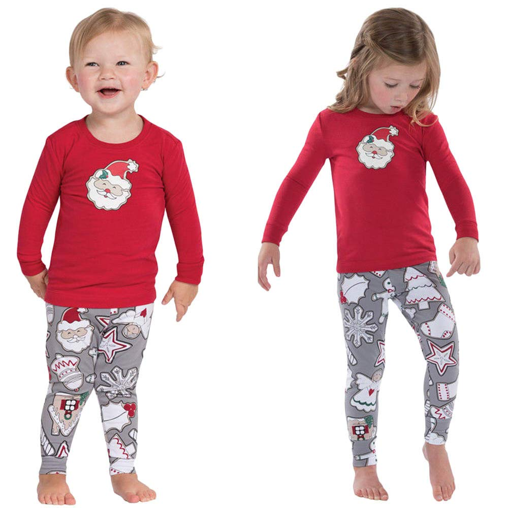 Matching Family Christmas Pajamas Girls Boys Adult Santa Claus PJS Sets Children's Pajama Couples Ladies Sleepwear Matching PJ Sets Xmas Families Happy-day