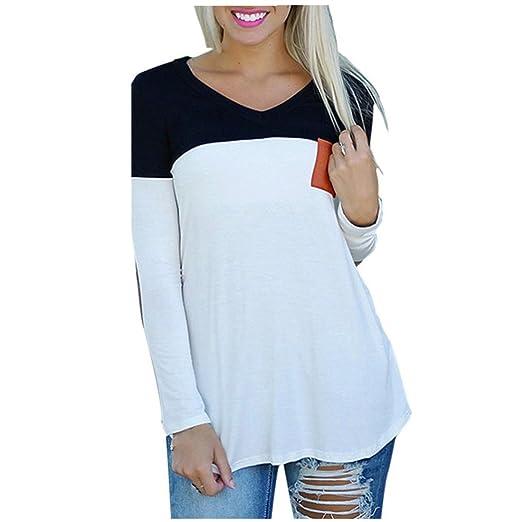 f2ca2eaf35 Amazon.com: TOPUNDER Fashion Women's Long Sleeve Shirt Casual Blouse ...