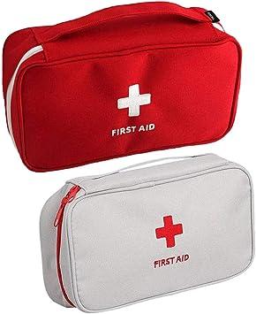 Zuzer Botiquín de Primeros Auxilios,2PCS Bolsa Médica Vacio Bolso de Primeros Auxilios Bolsa de Medicinas para Coche Camping Viajes: Amazon.es: Salud y cuidado personal