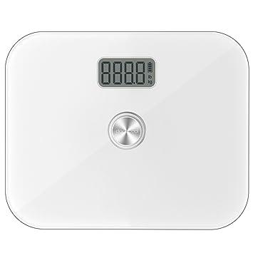 dodocool Báscula Digital No Batería Medir el Peso con Precisión Vidro Templado LCD Pantalla Capacidad de