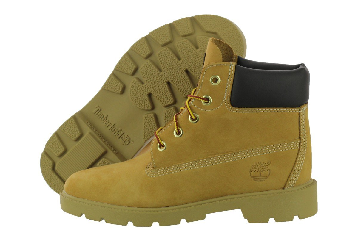 Timberland Youths Icon 6-inch Premium Wheat Leather Boots 4.5 US