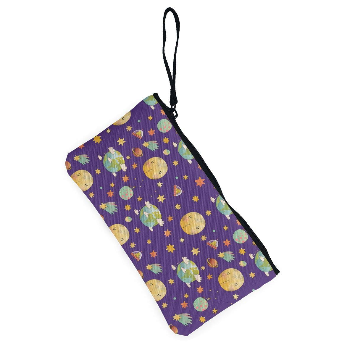 Bk55Oi/&/& Womens Vintage Coin Purse Awesome Cosmic Pattern Canvas Makeup Bag with Zipper for Women