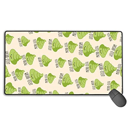Amazoncom Wasabi Poo Emoji Personalized Mouse Pads Thick Gaming