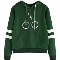 99native Sweater Femme Automne Hiver Tops À Manches Longues Encapuchonné Sweat-Shirt Harry Potter Imprimé Lunettes Sweats À Capuche Chemisiers Pull Sweatshirts Sweats De Hoodie