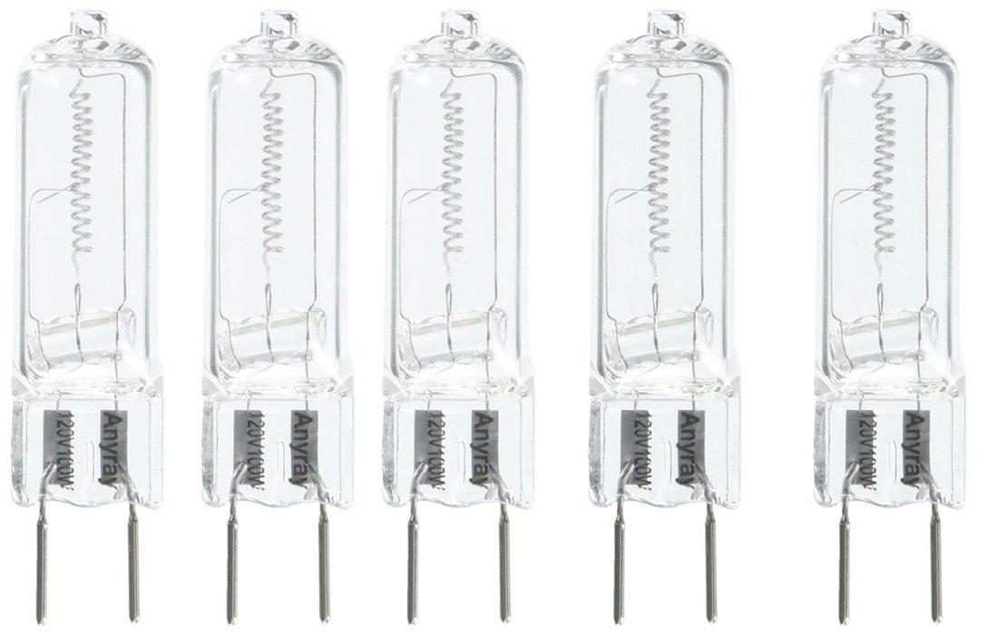 Anyray A1710Y (5)-Pack G8 100W 100-Watt 130 volt Halogen T4 Light GY8.6 bulbs 100Watt 5-Lamps