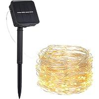 Solar bakır telli ışık zinciri, solar ışık zinciri, dış mekan için, 2 m 20 LED bakır tel, güneş enerjisi, 8 mod IP65 su…