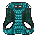 Best Pet Supplies Voyager All Weather No Pull Step-in Mesh Dog Harness with Padded Vest, Turquoise, Small