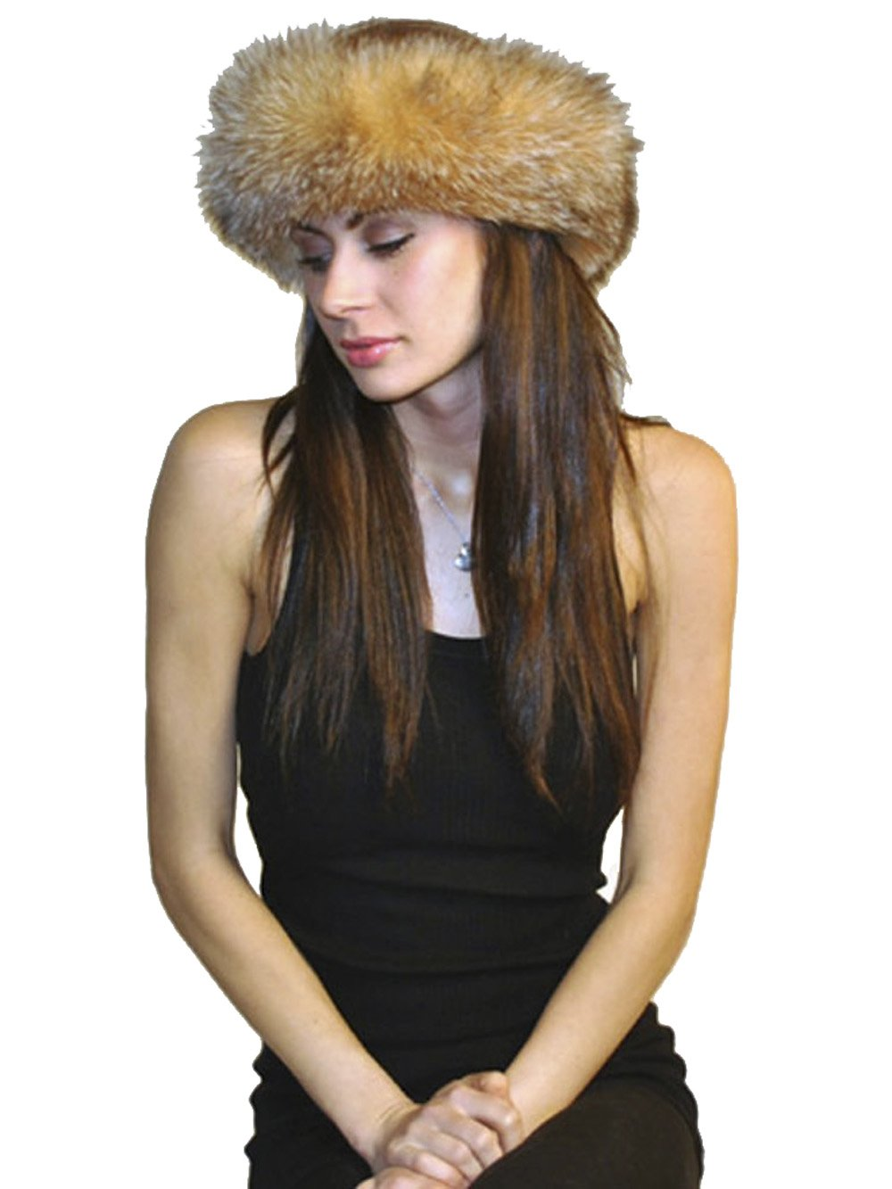 Cashmere Pashmina Group Scarves- Fox-Fur Headband from (CRYSTAL FOX)