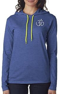 Yoga Clothing For You Ladies Aum Hindu Hoodie Black Tee Shirt