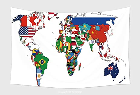 Amazon home decor tapestry wall hanging flags of the home decor tapestry wall hanging flags of the countries on the world map for bedroom living gumiabroncs Gallery