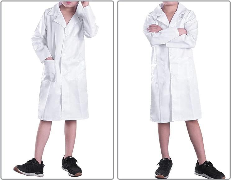 Freebily Bata Blanca Bata de Laboratorio Traje Disfraz de Doctor ...