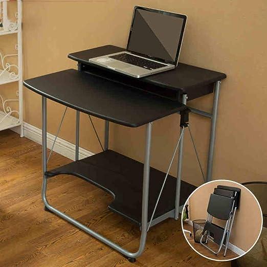 WGG Mesa Escritorio para computadora portátil 2 niveles Escritorio ...