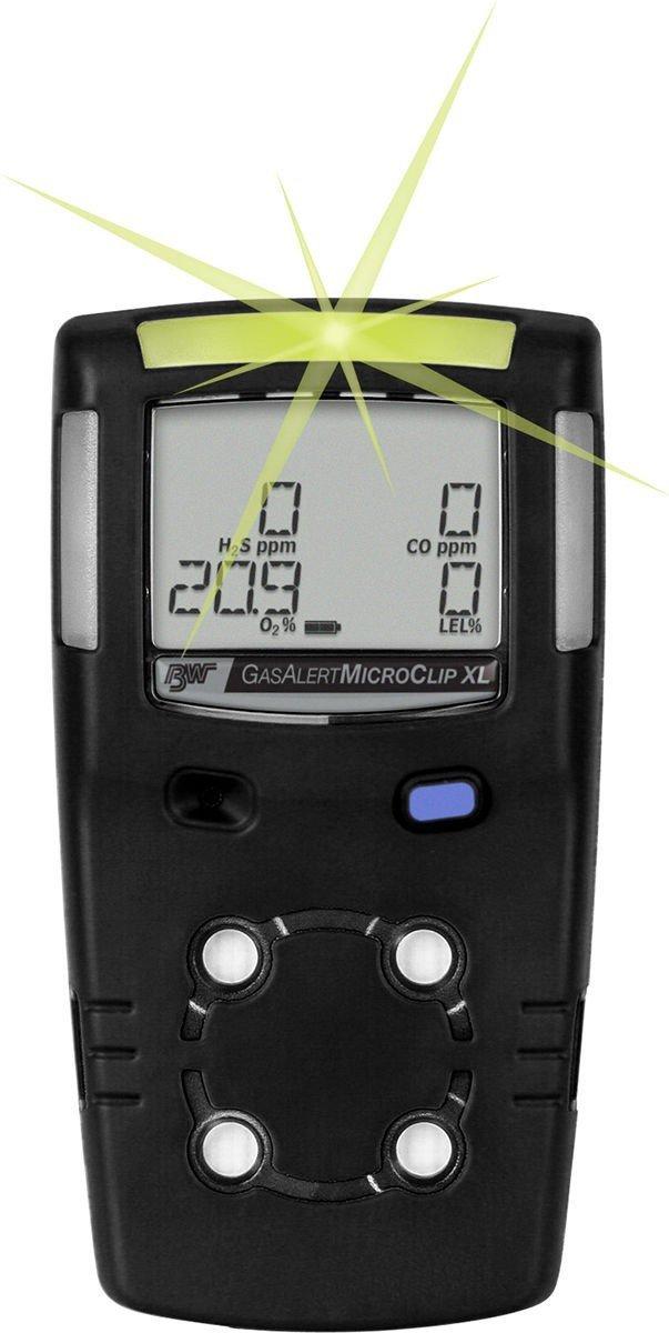 BW Technologies MCXL-XW00-B-NA GasAlertMicroClip XL 2 Gas Detector, LEL and O2, Black: Amazon.com: Industrial & Scientific