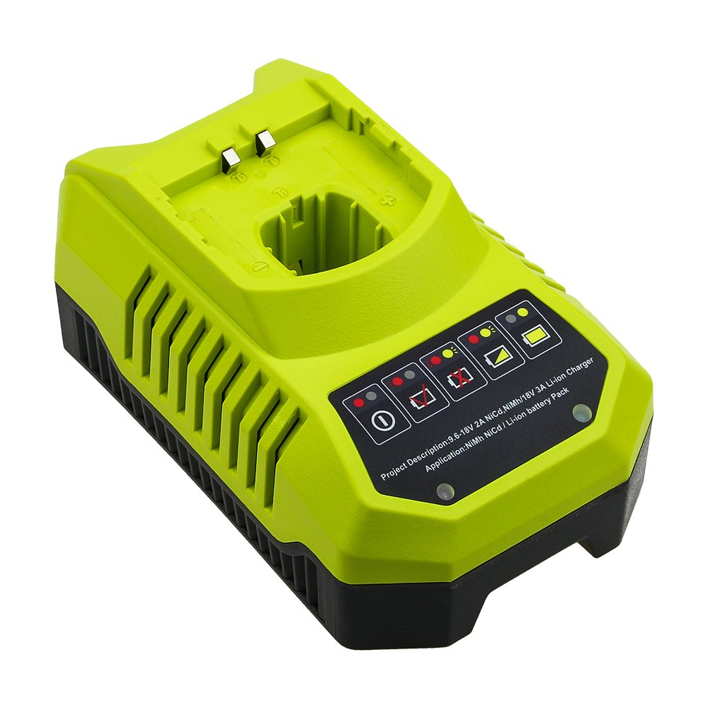 Replace Ryobi Charger for Ryobi 9.6v-18v P102 P105 P107 P117 P113 Charger One+ Dual Chemistry IntelliPort Lithium Ion and NiCad by GERIT BATT (Image #1)
