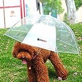 LESYPET Pet Umbrella (Dog Umbrella) Keeps your Pet Dry and Comfotable in Rain