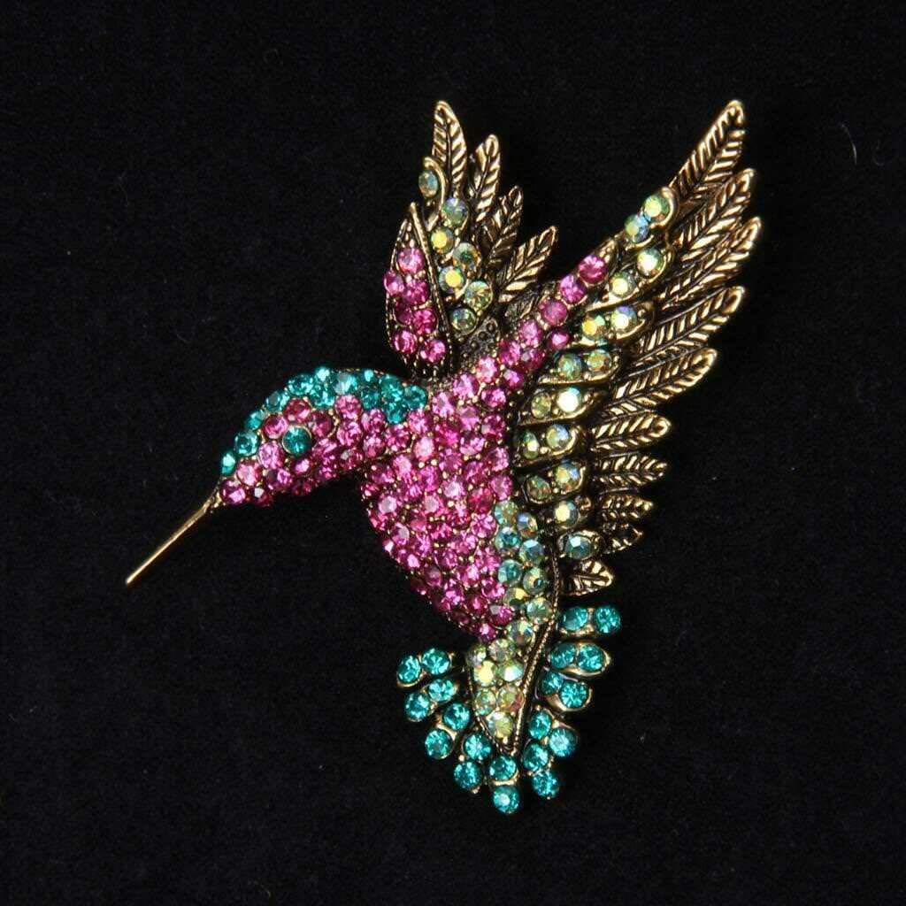 Cute Crystal Enamel Family Animal Brooch Pin Accessories Unisex Costume Jewelry Pattern Bird