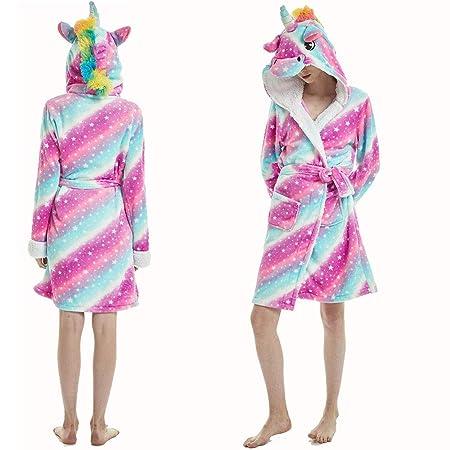 DLDL Pijamas de Dibujos Animados Pijamas Ropa Casual Desgaste Animal Albornoz Estrellado Cielo Caballo Animal Forma Gruesa Adulto de los niños,L: Amazon.es: ...