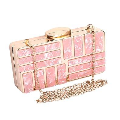 Amazon.com: Bolso de mano de acrílico color rosa: Shoes