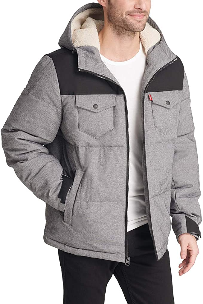 Levi's 李维斯 加厚中长连帽 男式保暖棉服夹克 XL码1.5折$38.34 海淘转运到手约¥362