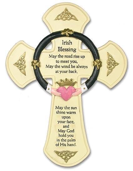 Amazon.com: Irish Wall Cross - Traditional Irish Blessing Saying ...