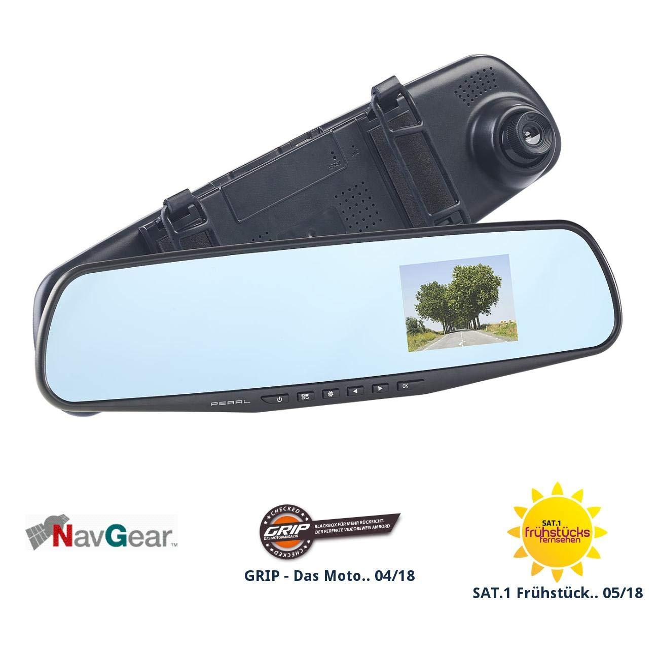 NavGear Autospiegel: Rü ckspiegel-Dashcam mit Bewegungserkennung und 7, 1-cm-Display (2, 8') (HD Rü ckspiegel Dashcams) 8) (HD Rü ckspiegel Dashcams)